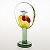 """Oiva toikka, glasskulptur, """"lollipop"""", signerad oiva toikka, nuutajärvi 2004, 126/200."""