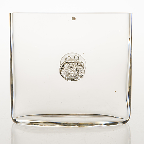 Tapio wirkkala, a 1960s glass vase, signed tapio wirkkala  3308