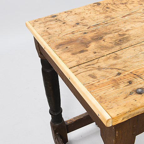 An 18th century partly painted baroque table