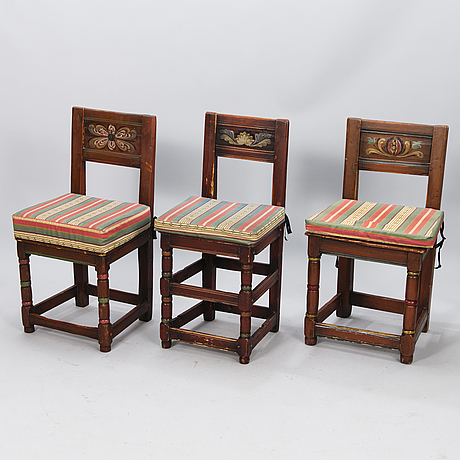 19th century painted chairs