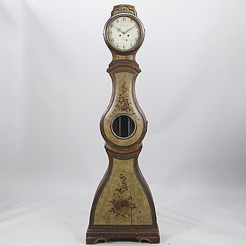 A Finnish 19th century long case clock.