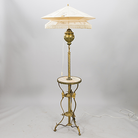 A late 19th century floor lamp.