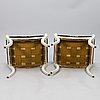 A pair of tabourettes, empire 1820 30s