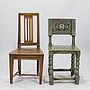 Two 18th century rustic chairs
