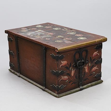 Talonpoikaisarkku, ruotsi 1800-luku.