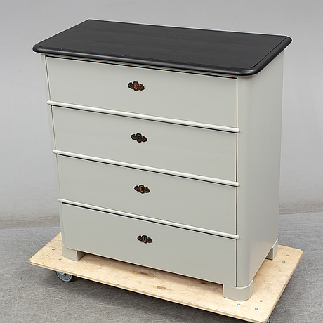 A late 19th century painted chest of drawers