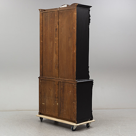 A late 19th century painted cabinet