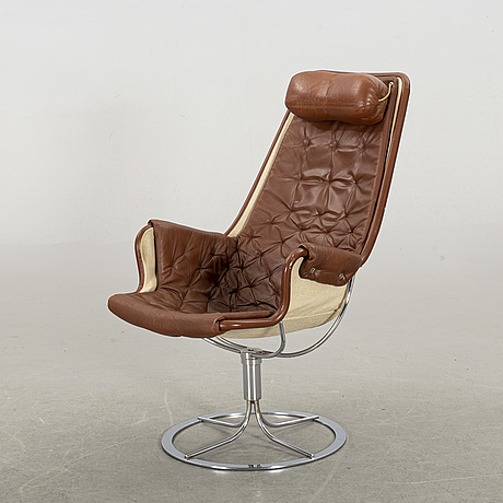 "A bruno mathsson ""jetson"" swivel armchair by dux, sweden"