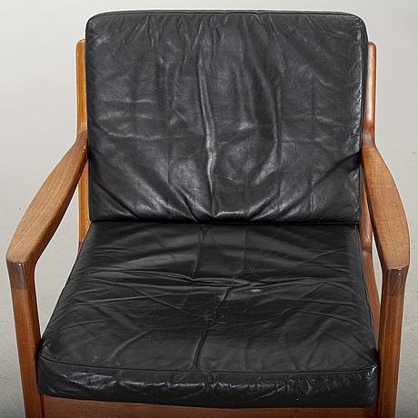 "An ole wanscher ""senator"" armchair, france & son, denmark"