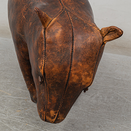 Dimitri omersa & co, a leather foot stool