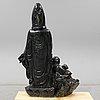Skulptur, grön sten, kina, modern tillverkning.