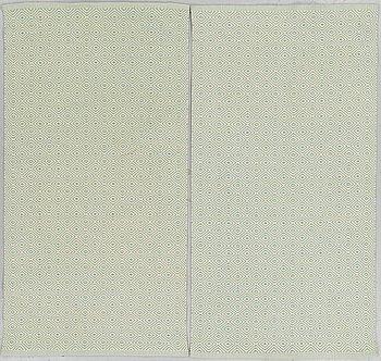 "GUNILLA LAGERHEM-ULLBERG, RUGS, 1 pair, ""Gåsöga"", ca 160,5 x 86 cm each."
