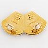 A pair of hermès earrings