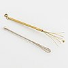 Two champagne whisks