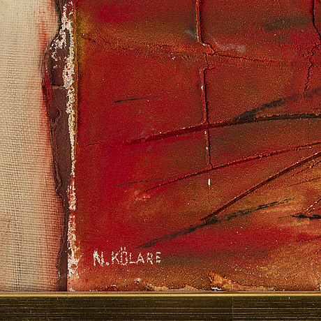 Nils kÖlare, mixed media, signed