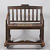 A 19th century wooden rocking chair