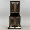 19th century painted corner cabinet