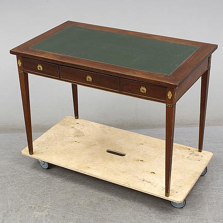 A late gustavian style writing desk, circa 1900
