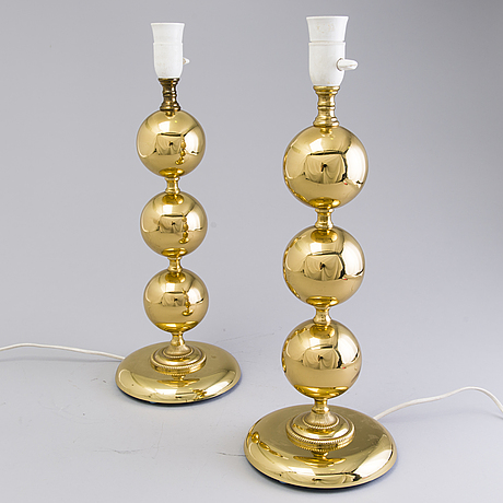 A pair of 1970s table lights
