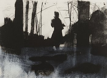 TIINA KIVINEN, mezzotinto, drypoint, signed and dated 2012, numbered T.p.l'a 6/10.