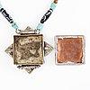 Charm box pendant, tibet before 1960's.