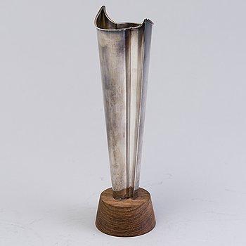 TAPIO WIRKKALA, a silver vase, 'Liekki' ('Flame'), marked TW, Kultakeskus, Tavastehus, Finland 1965.