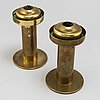 A pair of hans agne jakobson ab 20th century brass and glass lanterns for lijeholmen candles  kupe 5:or no 131, markaryd