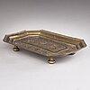 Tray, a 19th-century brass tray, kandy, india.
