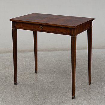 A late gustavian style table, first half of the 20th century.