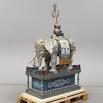 A large chinese cloisonné sculpture, 20th Century.