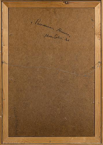 Max salmi, olja på masonit, signerad och daterad -66.