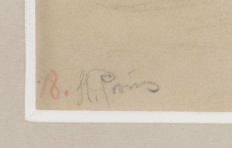 Ilja jefimovitj repin, piirros, signeerattu ja numeroitu nr 18