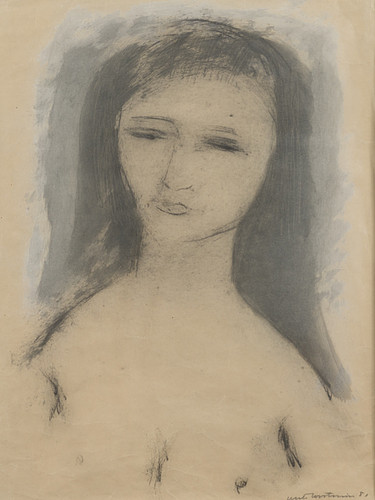 Unto koistinen, mixed media, signed and dated 1951
