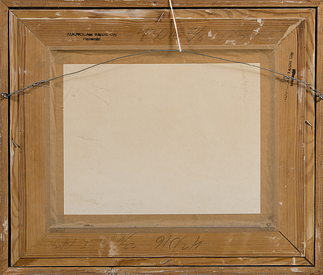 Helge dahlman, oil on panel, signed and dated  61