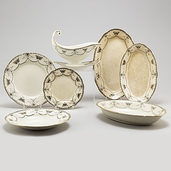 A part 'Fjäril' dinner and coffee service, from Rörstrand, 20th century (37 pieces).