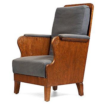 237. Carl Bergsten, a stained birch easy chair, Nordiska Kompaniet, Sweden 1918.