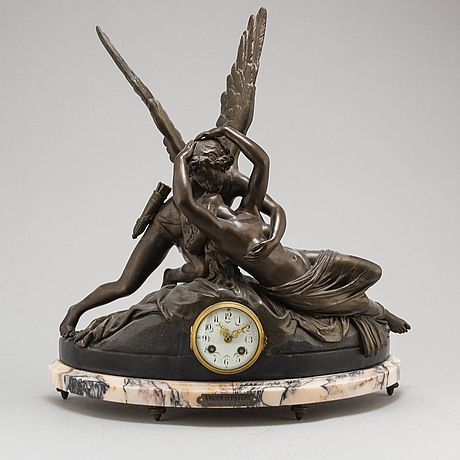 A french table clock, second half of 20th century