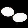 Uno och Östen kristiansson, two 1960s 'plafo' ceiling lights, luxus, sweden