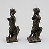 Skulpturer, ett par, brons, 1800-tal.