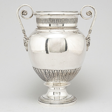 A 20th century silver 800/1000 urn, louis xvi-style.