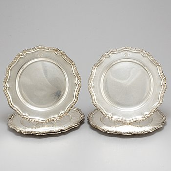 K ANDERSON, six silver plates, Stockholm, 1927-8.