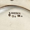 K anderson, six silver plates, stockholm, 1927 8