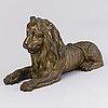 A 19th century bronze lion