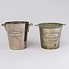 Two french advertising champagne coolers for charles heidsieck reims, first half of 20th century