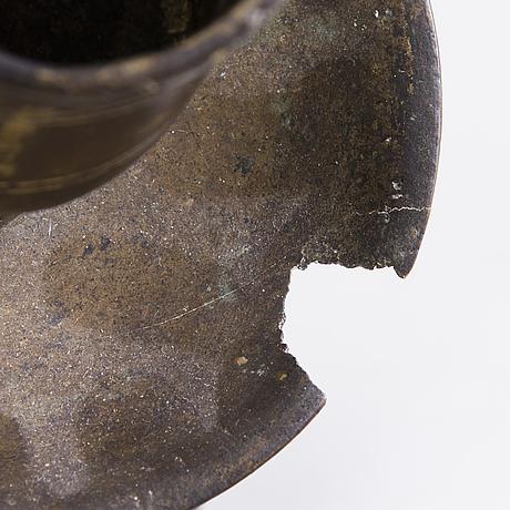 A candlestick, bronze, ottoman, 19th century