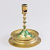 A candlestick, brass, 19th century, after older model