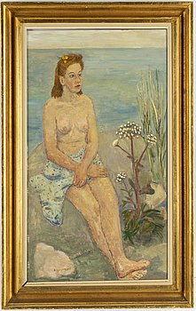 BIRGER LJUNGQUIST, oil on panel, signed and dated 1943.