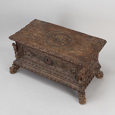 A renaissance-style chest, ca 1900.