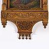 A german oak neo gothic wall cabinet, circa 1900