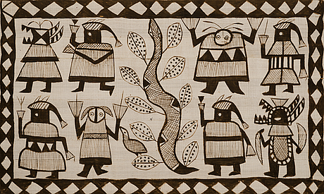A 1970's african wall textile